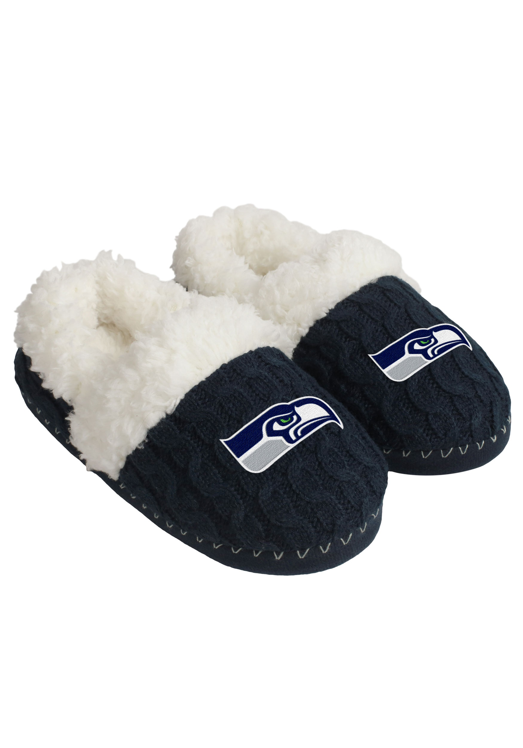 NFL SEATTLE SEAHAWKS TEAM COLOR WOMEN'S MOCCASINS